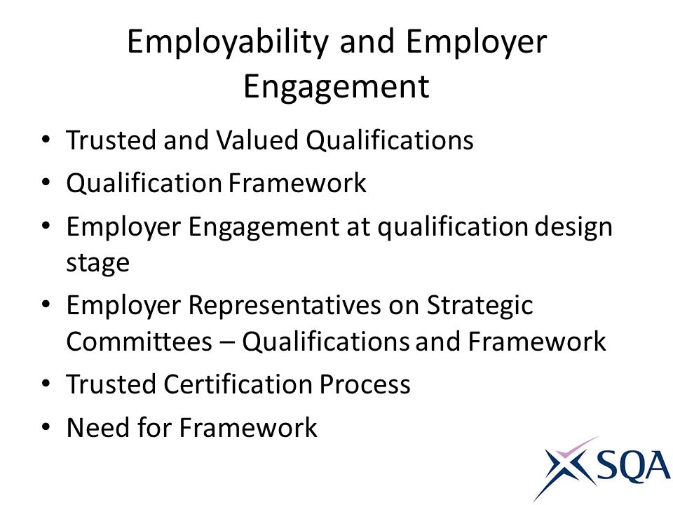 Employability and Employer Engagement