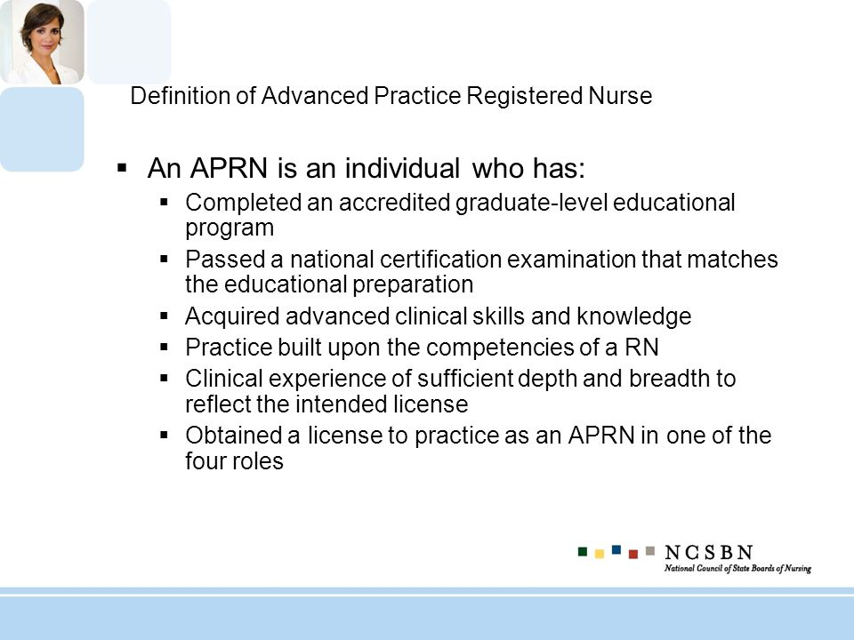 Reasons For A Future Aprn Model Ppt Download