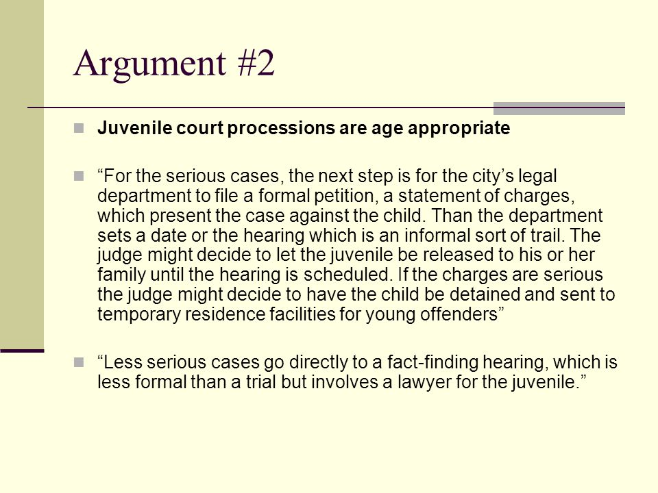 why should juveniles be charged as adults