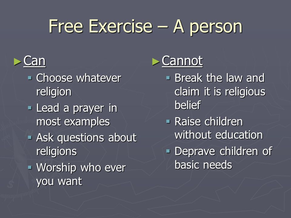 Free Exercise – A person