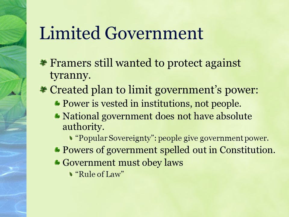 how does the constitution guard against tyranny