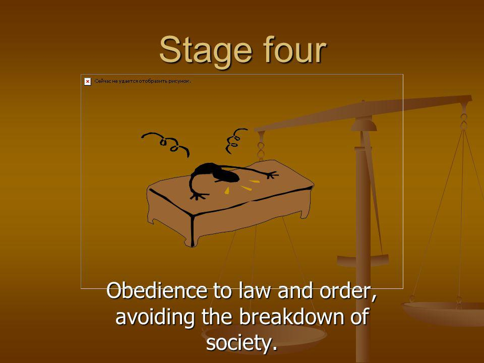 Obedience to law and order, avoiding the breakdown of society.