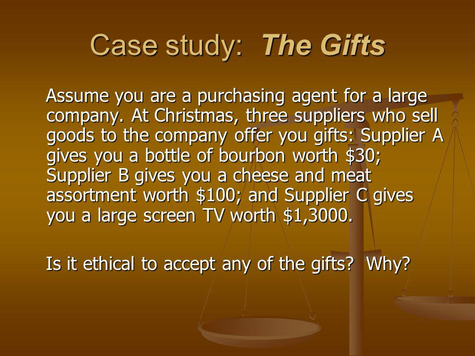 Case study: The Gifts