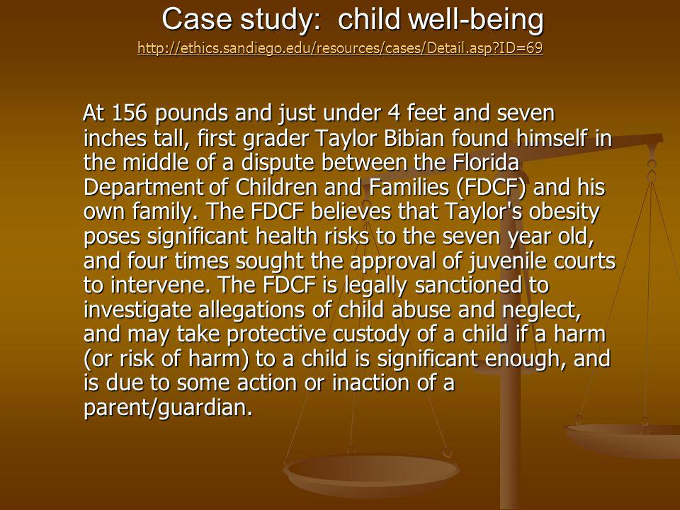 Case study: child well-being