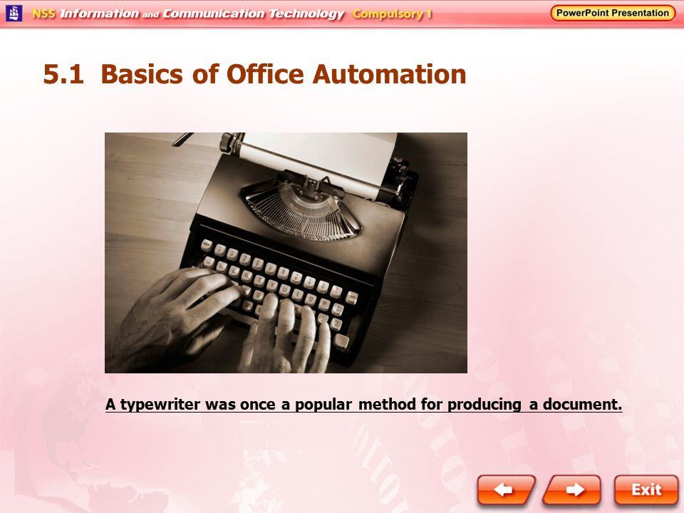 5 1 Basics of Office Automation - ppt video online download