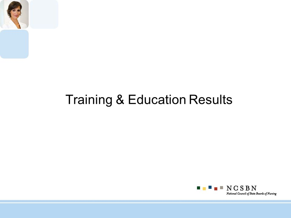 Training & Education Results
