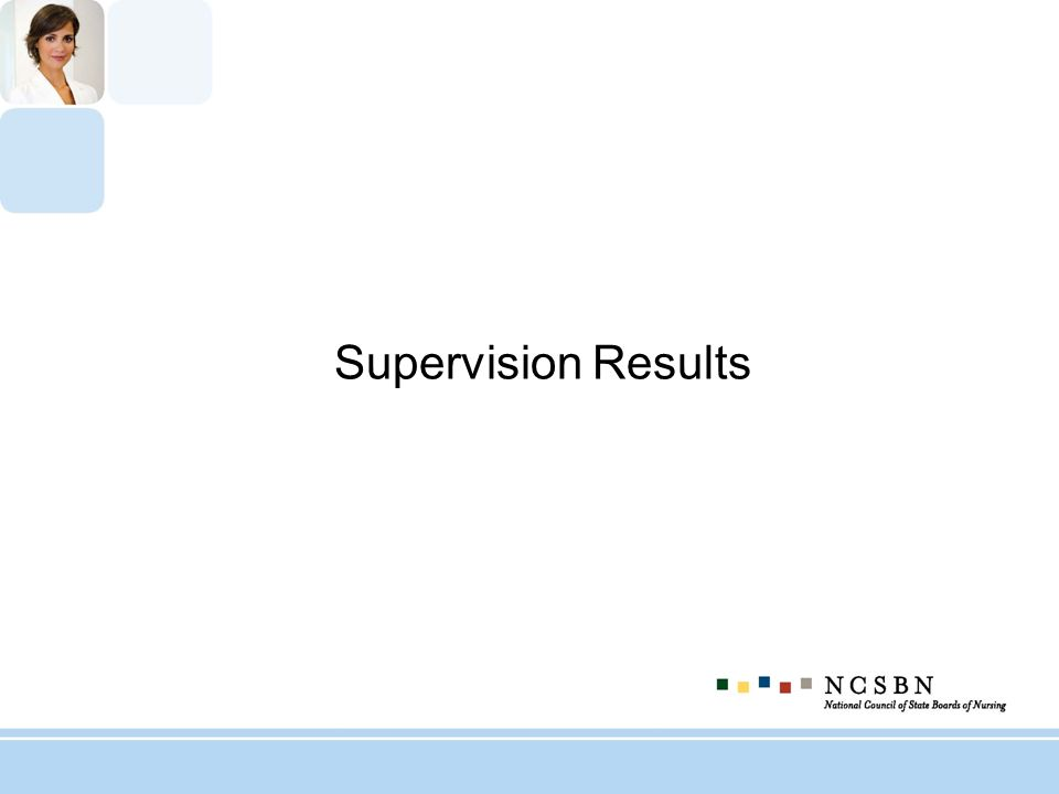 Supervision Results