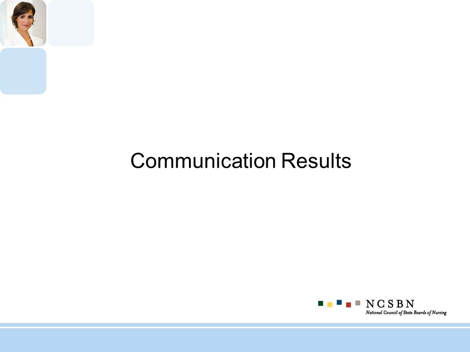 Communication Results
