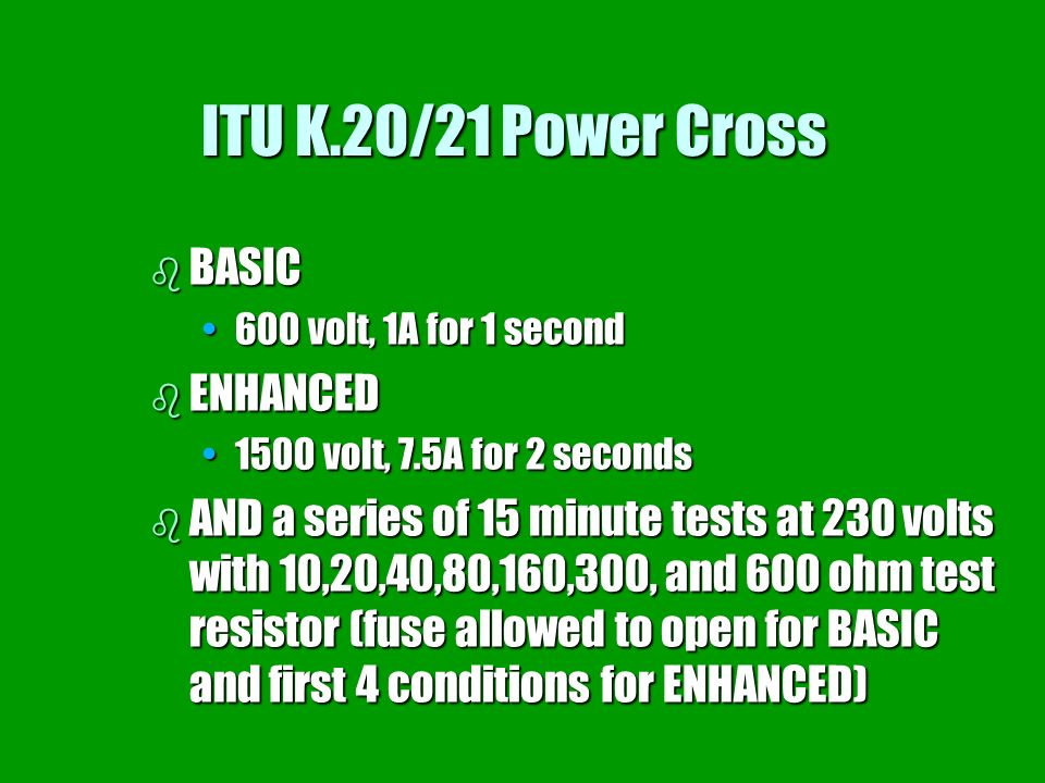 ITU K.20/21 Power Cross BASIC ENHANCED
