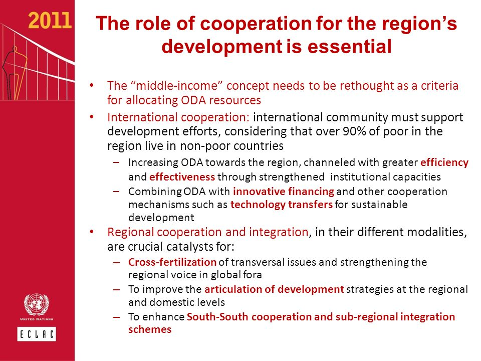 The role of cooperation for the region's development is essential