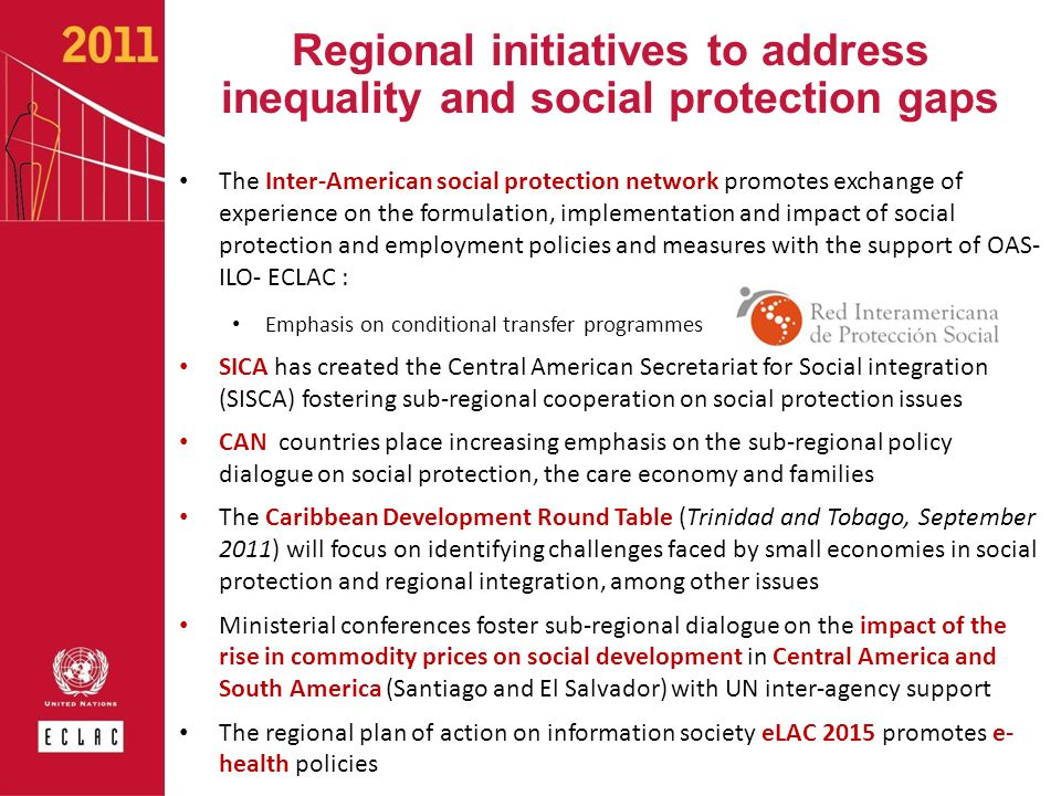 Regional initiatives to address inequality and social protection gaps