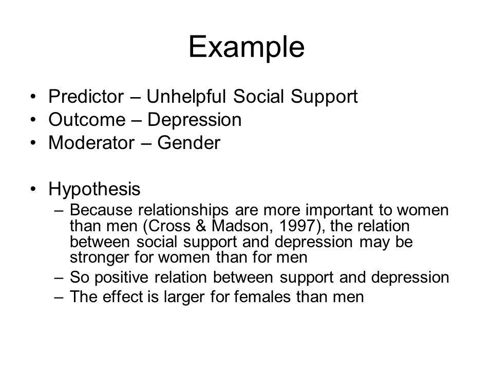 Mediation hypothesis example
