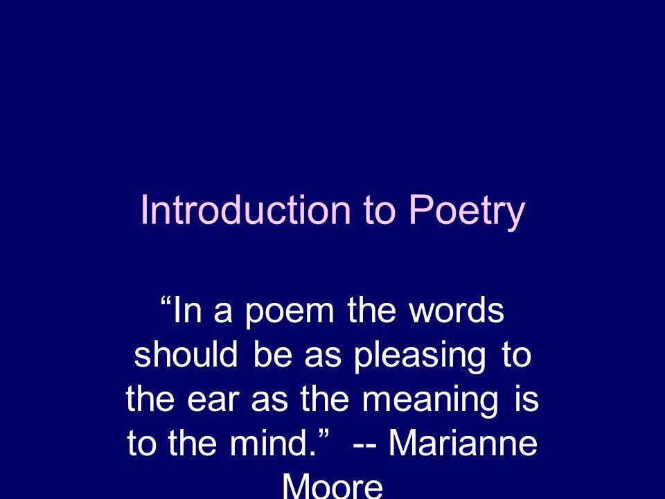 marianne moore poetry analysis