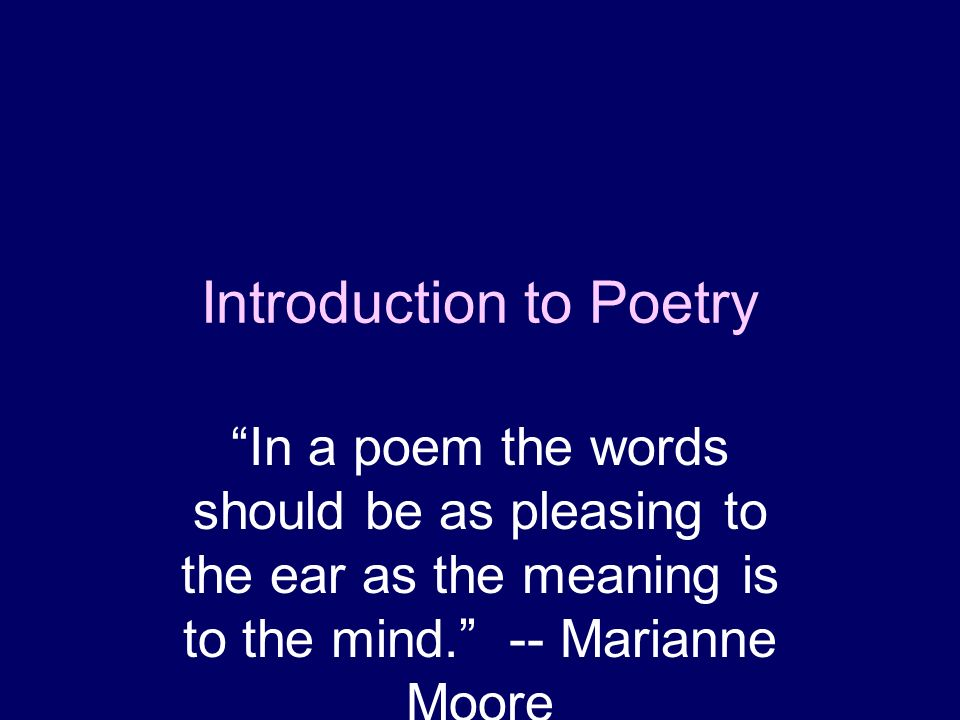 poetry moore analysis