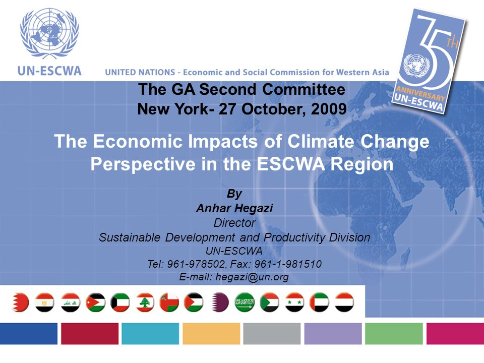 The Economic Impacts of Climate Change Perspective in the ESCWA Region