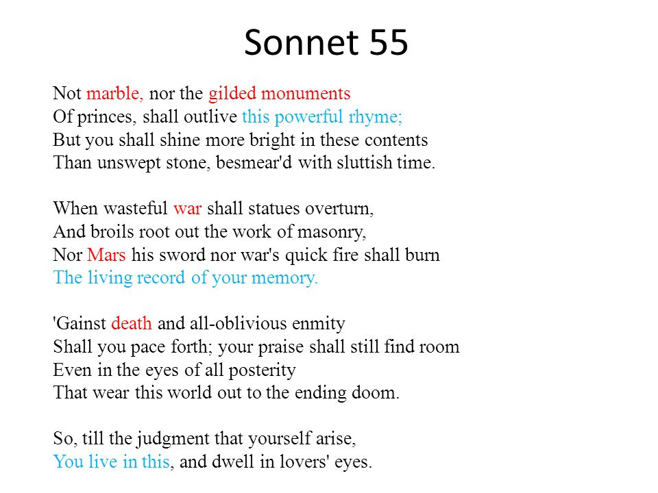 Shakespeare's Sonnet 55 To whom this sonnet is dedicated to