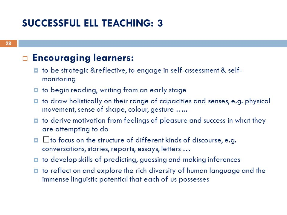 SUCCESSFUL ELL TEACHING: 3