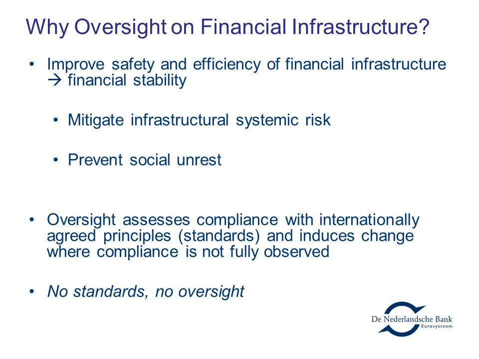 Why Oversight on Financial Infrastructure