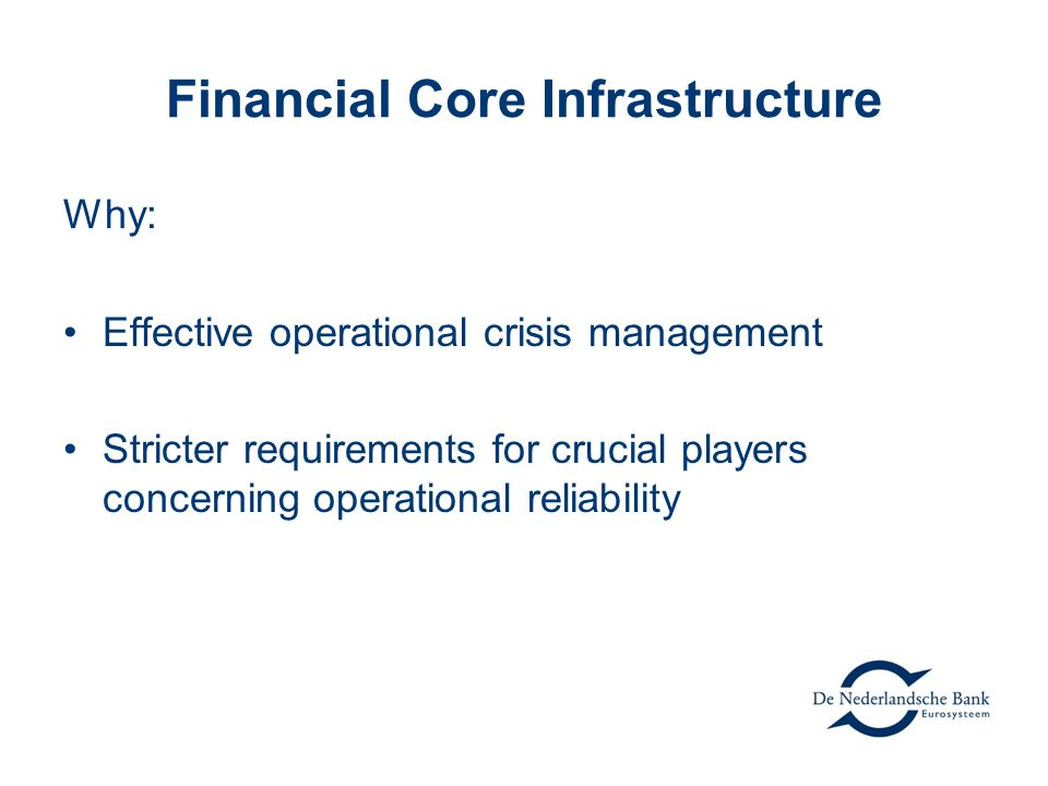 Financial Core Infrastructure