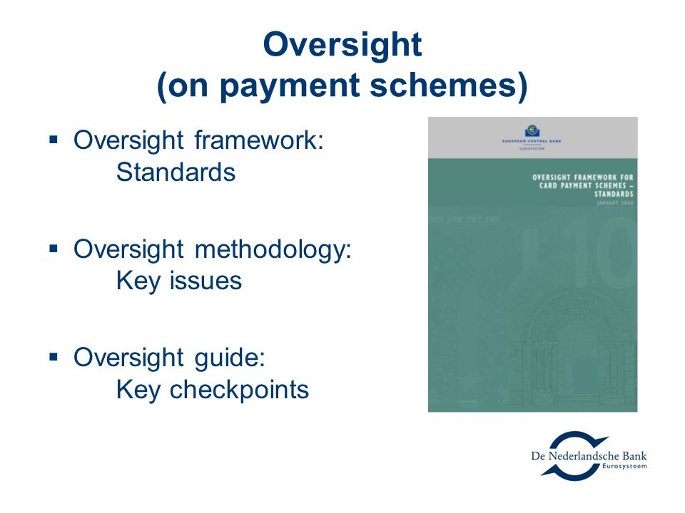 Oversight (on payment schemes)