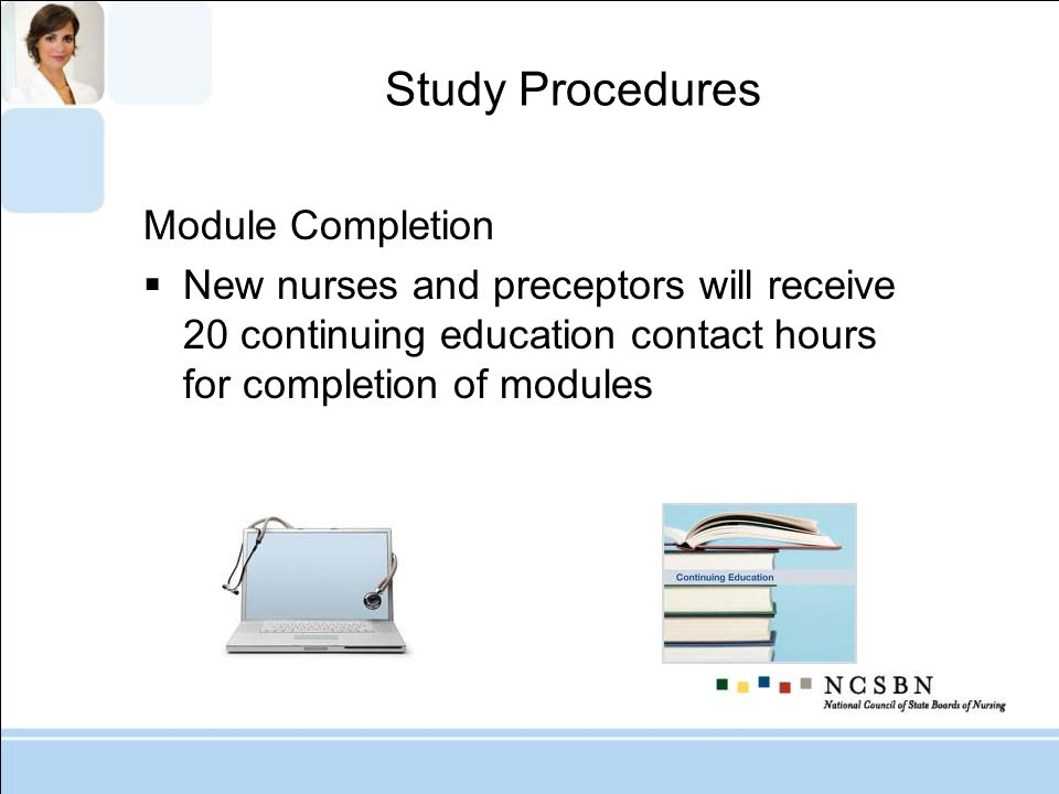 Study Procedures Module Completion
