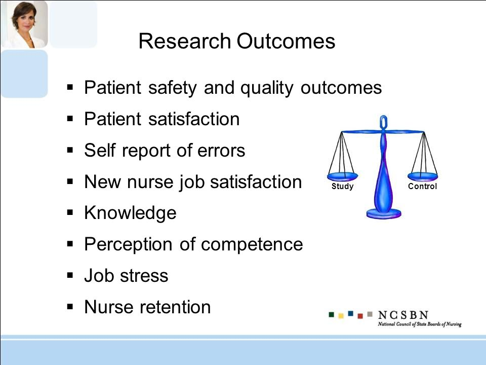 Research Outcomes Patient safety and quality outcomes