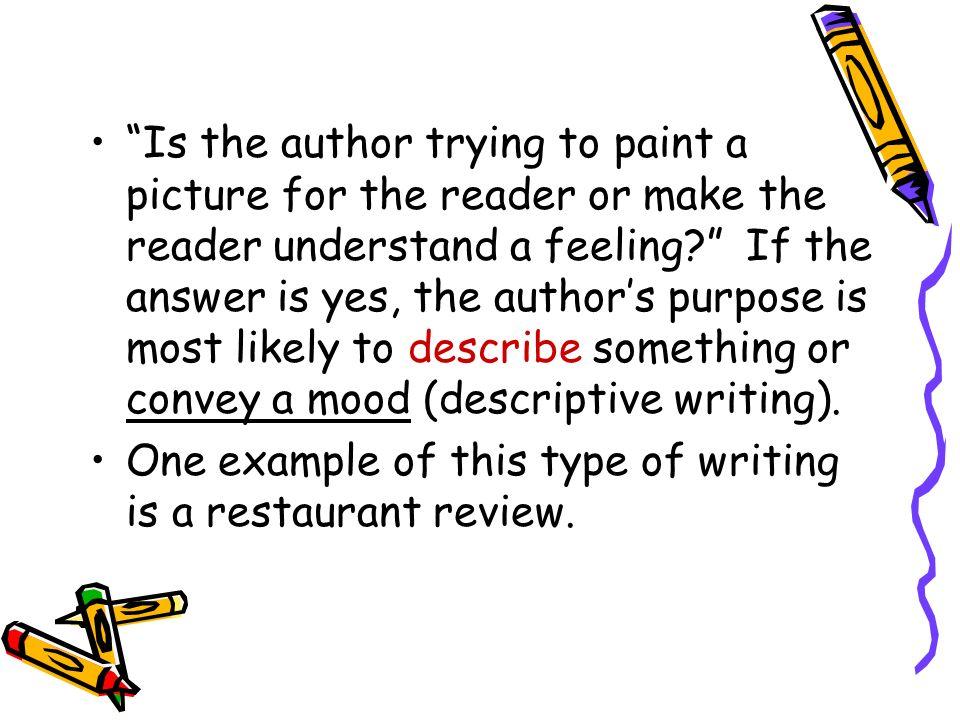 most descriptive authors