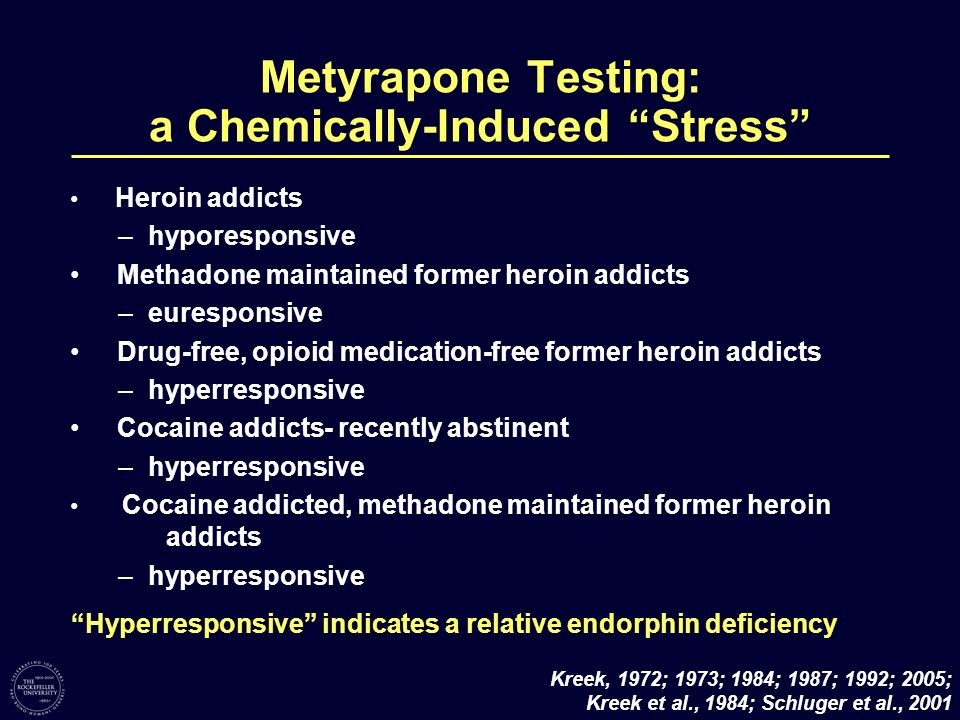 Metyrapone Testing: a Chemically-Induced Stress
