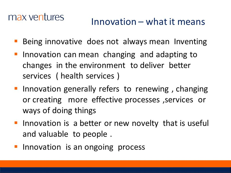 Innovation – what it means