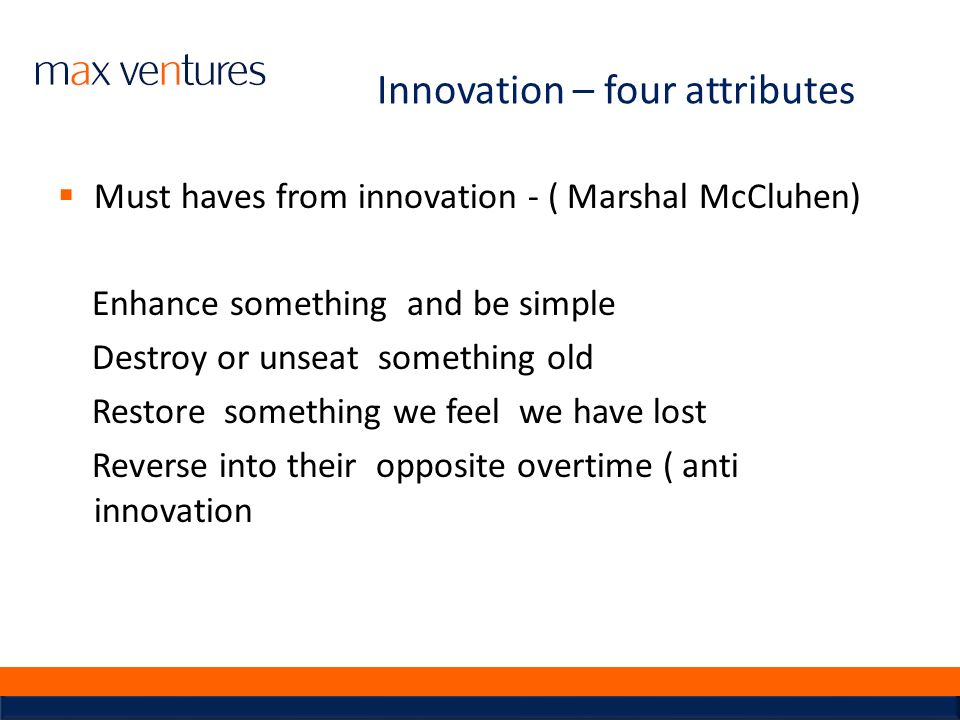 Innovation – four attributes