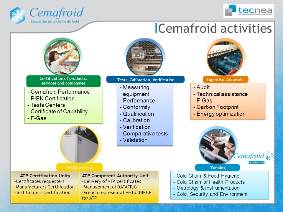 Cold chain expertise in France Cemafroid independent expertise ...