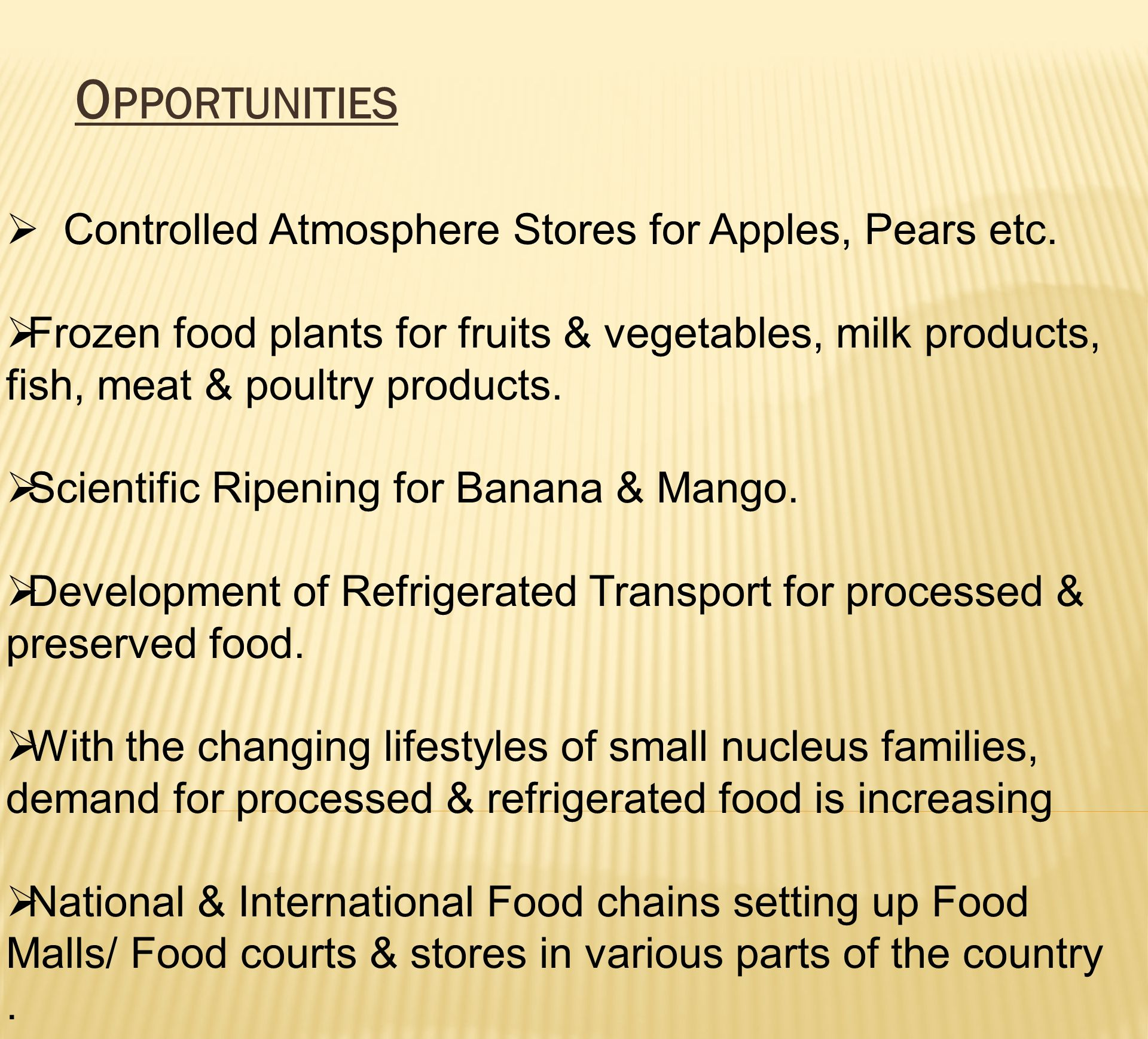 Opportunities Controlled Atmosphere Stores for Apples, Pears etc.