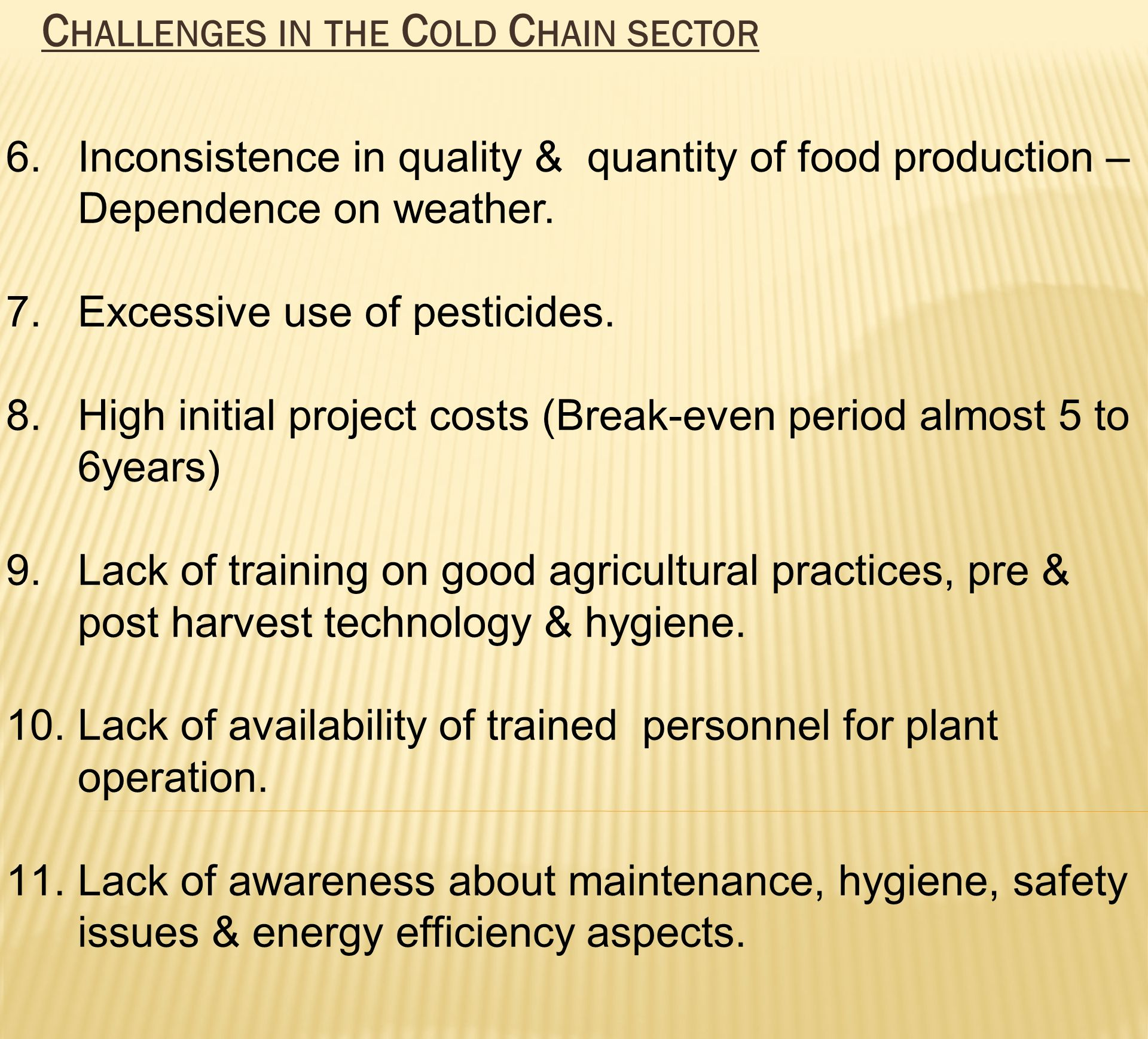 Challenges in the Cold Chain sector