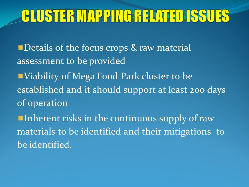 CLUSTER MAPPING RELATED ISSUES