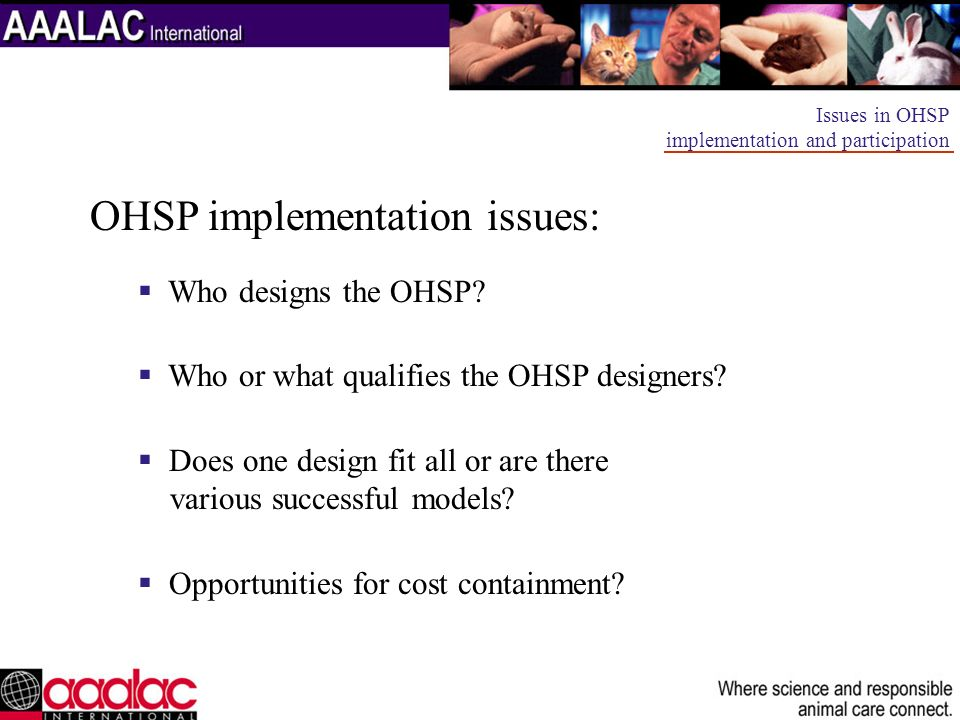 OHSP implementation issues: