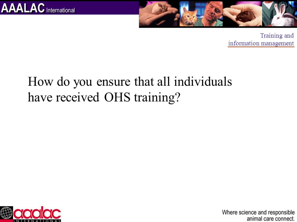 How do you ensure that all individuals have received OHS training