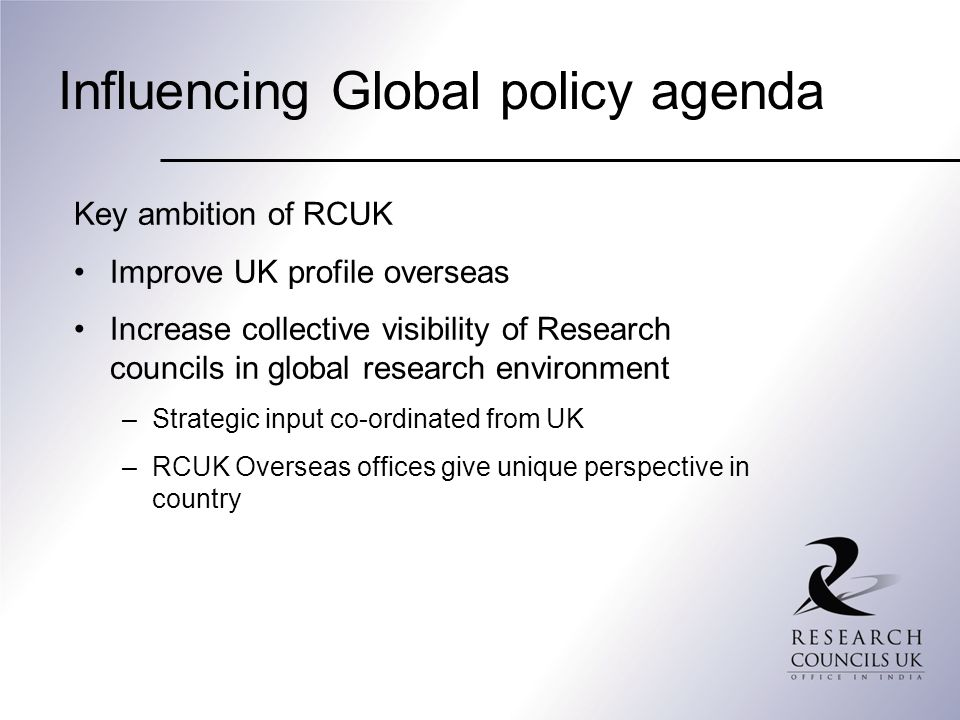 Influencing Global policy agenda