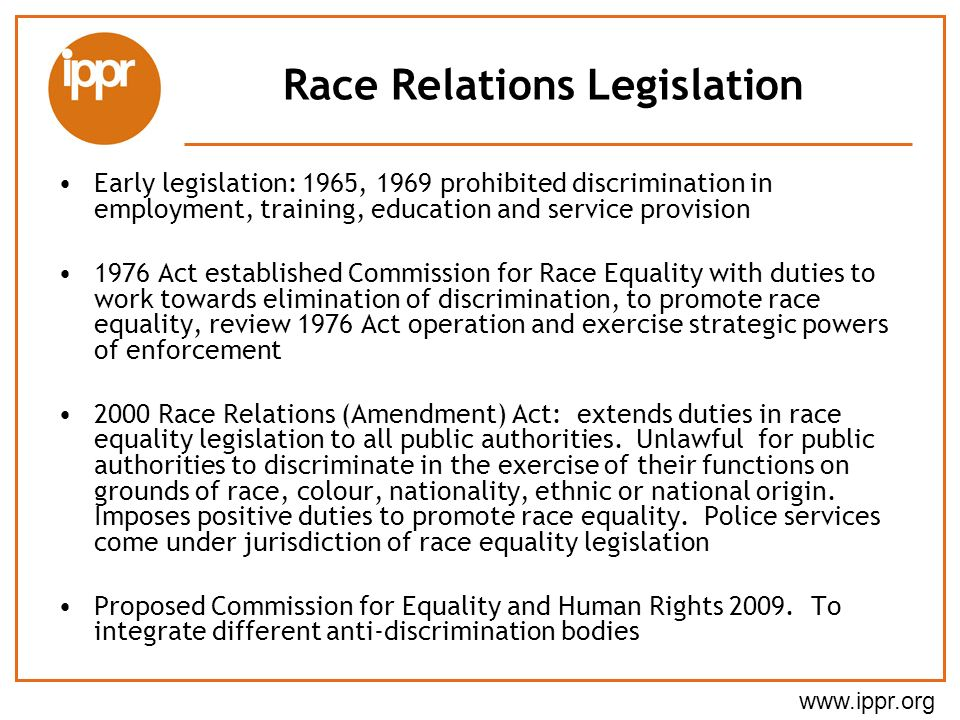 Race Relations Legislation