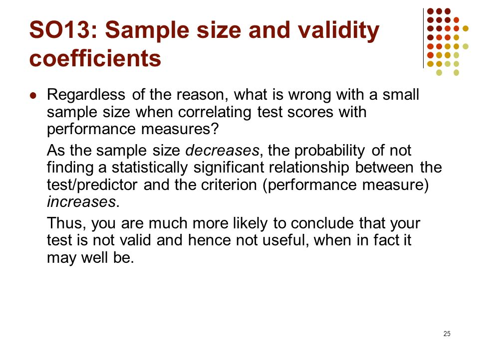 Sample size required to produce a statistically valid estimate of.