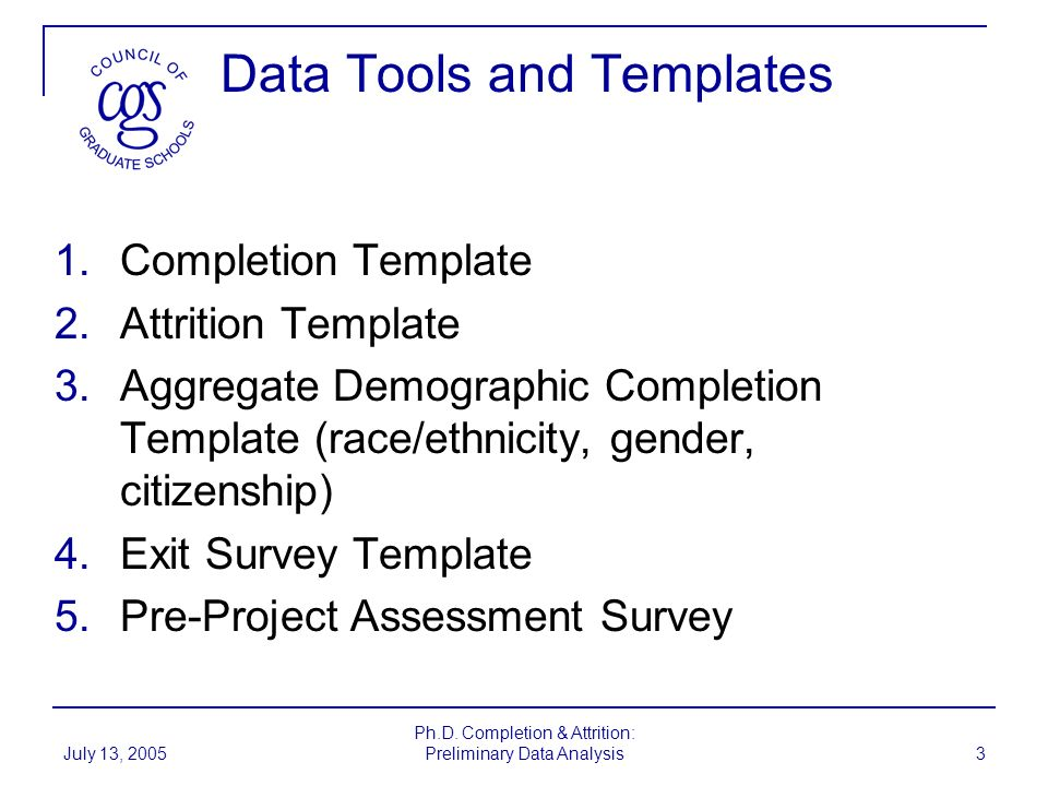 Data Tools and Templates