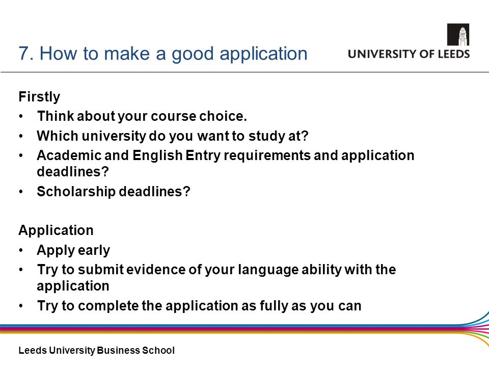 7. How to make a good application