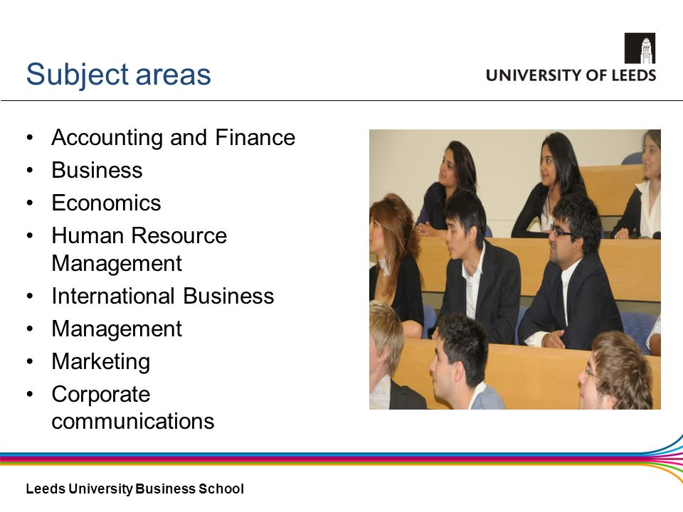 Subject areas Accounting and Finance Business Economics
