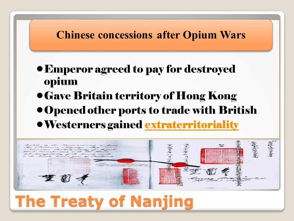 Chinese concessions after Opium Wars