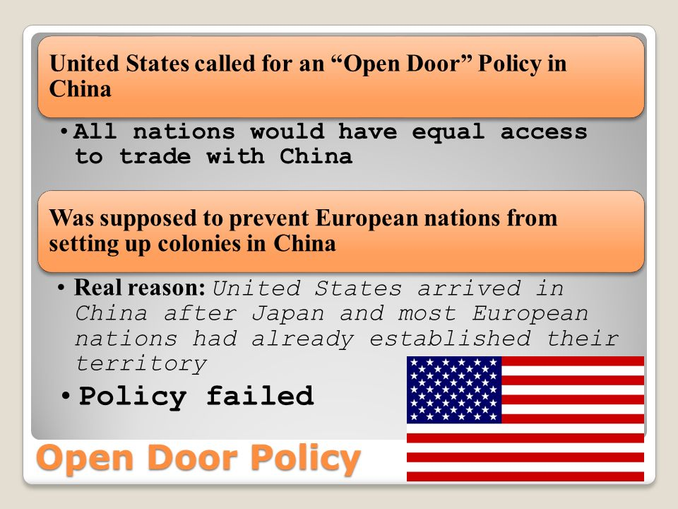 Open Door Policy Policy failed