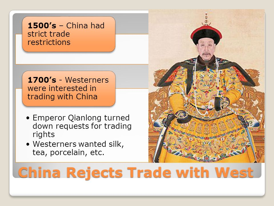 China Rejects Trade with West