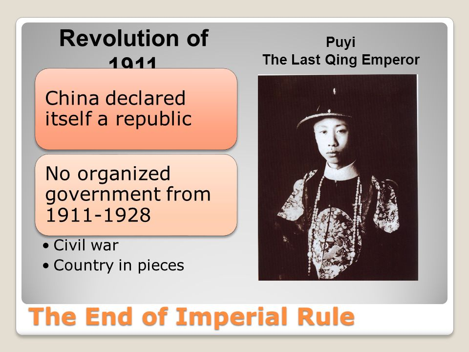 The End of Imperial Rule