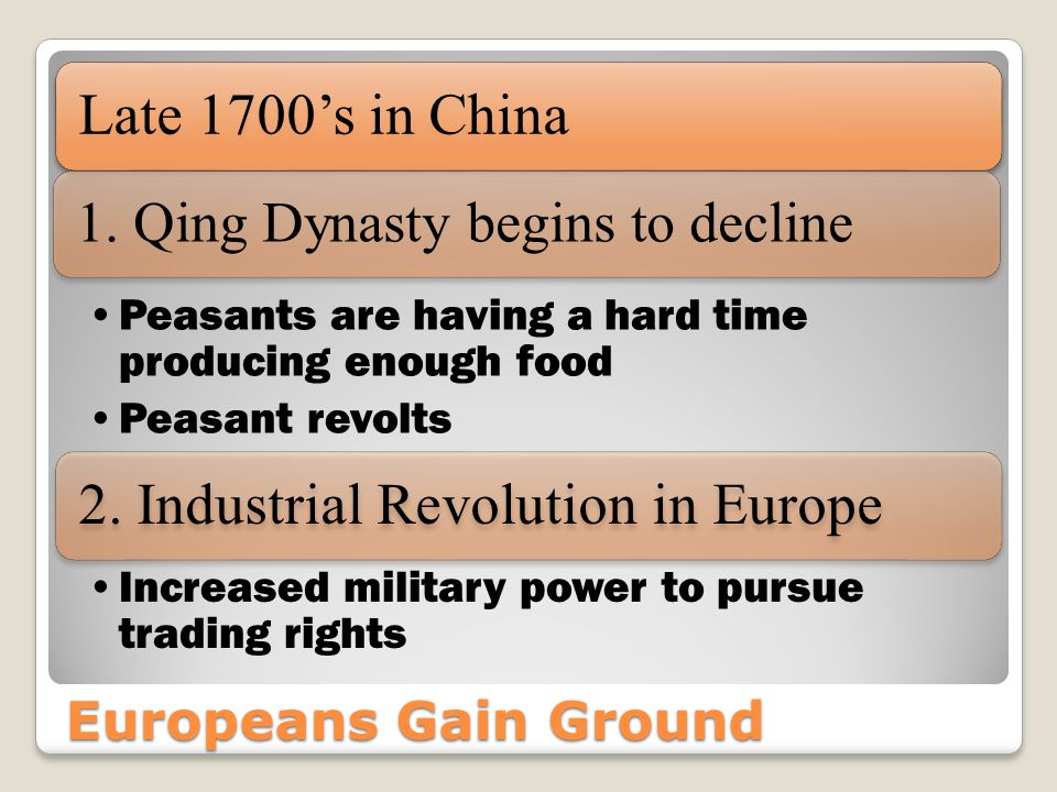 2. Industrial Revolution in Europe
