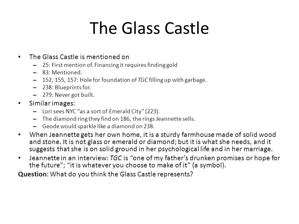 The Gl Castle Quotes | Jeannette Walls S The Glass Castle Ppt Download