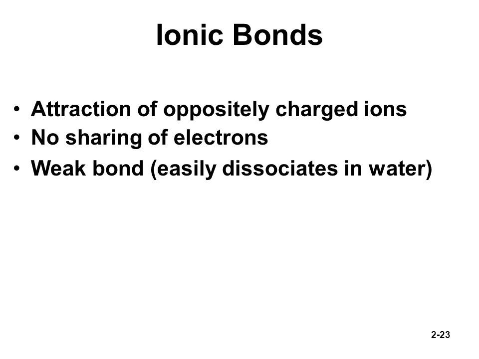 Ionic Bonds Attraction of oppositely charged ions