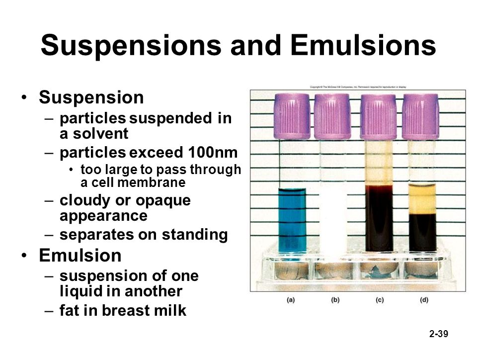 Suspensions and Emulsions